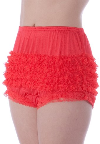 glanzende pettipants met ruches